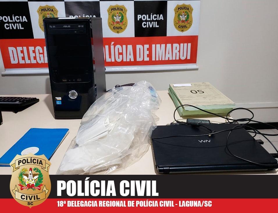Polícia Civil apreendeu documentos e computadores de uma das empresas investigadas