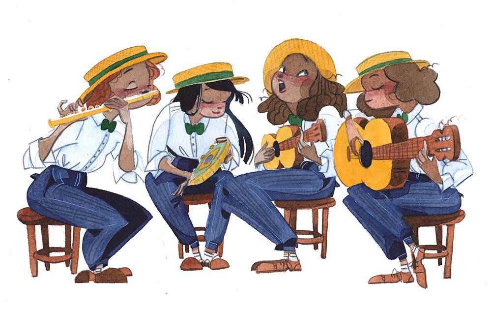 """Ilustração """"Chorinho"""", de Fefê Torquato"""
